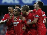 Jason Puncheon scores the second for Southampton on November 17, 2012