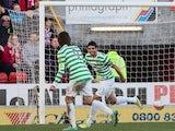 Lassad celebrates scoring for Celtic on November 17, 2012