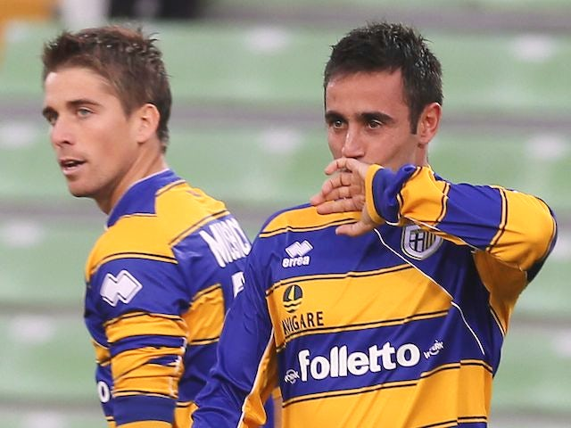 Marco Marchionni after scoring for Parma on November 18, 2012