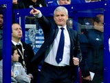 Mark Hughes pointing from the sideline on November 17, 2012