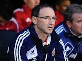 Sunderland boss Martin O'Neill watches on on November 18, 2012