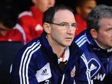 Sunderland boss Martin O'Neill watches on on November 18, 2012