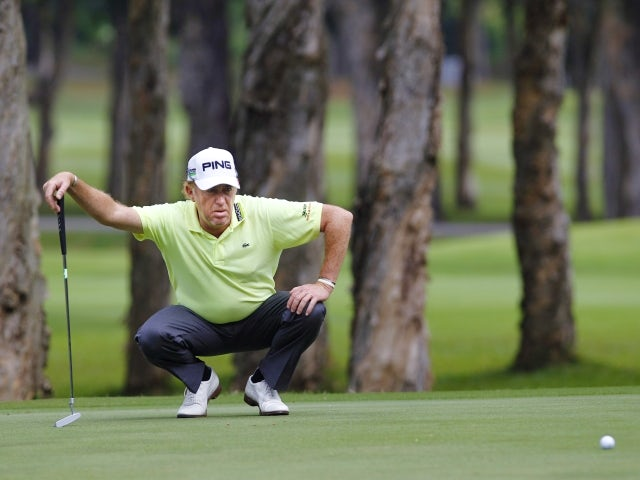 Miguel Angel Jimenez at the Hong Kong Open on November 17, 2012