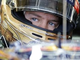 Championship leader Sebastian Vettel in Austin, Texas on November 17, 2012
