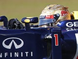 Sebastian Vettel during the practice for the US Grand Prix on November 16, 2012