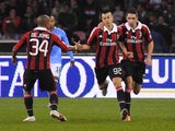 Stephan El Shaarawy celebrates his brace for AC Milan against Napoli on November 17, 2012