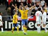 Sweden's Zlatan Ibrahimovic scores four against England on November 14, 2012