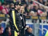 Borussia Dortmund's head coach Juergen Klopp chats to fourth official during the match against Mainz 05 on November 24, 2012