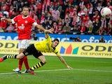 Robert Lewandowski scores Borussia Dortmund's second goal on November 24, 2012