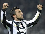 Fabio Quagliarella celebrates his goal on November 20, 2012