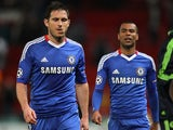 Frank Lampard and Ashley Cole in 2011