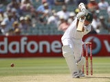 South Africa captain Graeme Smith bats against Australia on November 23, 2012