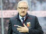 Genoa's coach Luigi Delneri during the match against Atalanta on November 25, 2012