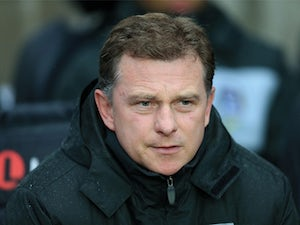 Coventry City manager Mark Robins during the match against Portsmouth on November 24, 2012