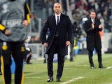 Chelsea boss Roberto Di Matteo trawls the touchline against Juventus on November 20, 2012