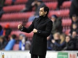 Wigan boss Roberton Martinez likes what he see's against Reading on November 24, 2012