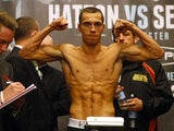 Scott Quigg during the weigh-in on November 23, 2012