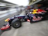 Championship leader Sebastian Vettel practises ahead of the Brazilian GP on November 24, 2012