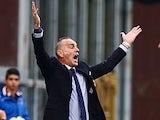 Bologna coach Stefano Pioli reacts to a decision during the match against Sampdoria on November 25, 2012
