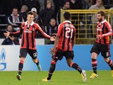 Stephan El Shaarawy celebrates scoring the opener for AC Milan on November 21, 2012