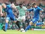 Victor Wanyama and Richie Foran battle for the ball on November 24, 2012