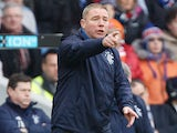 Rangers manager Ally McCoist instructs his team on the touchline on December 2, 2012