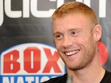 Andrew Flintoff during the press conference and weigh in on November 29, 2012