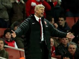 A frustrated Arsene Wenger on the touchline on December 1, 2012