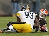 Brandon Weeden of the Cleveland Browns on November 25, 2012