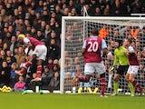 Carlton Cole scores West Ham's first on December 1, 2012