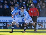Chris Atkinson scores the first for Huddersfield on December 1, 2012