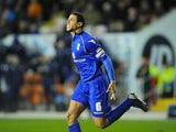 Curtis Davies celebrates scoring the equaliser for Birmingham on November 27, 2012