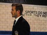 David Beckham arrives for the MLS Cup Final on December 1, 2012
