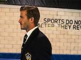 David Beckham arrives for the MLS Cup Final on December 1, 2012