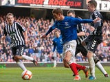 Rangers' Dean Shiels scores the opener against Elgin City on December 2, 2012