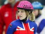 Elise Christie during training on October 8, 2012