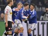 Julian Draxler scores the equaliser for Schalke on December 1, 2012