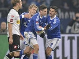 Julian Draxler scores the equaliser for Schalke on December 1, 2012