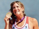 Team GB Women's Doubles gold medalist Katherine Grainger at London 2012 on August 3, 2012