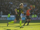 Luciano Beccio scores the second for Leeds on December 1, 2012