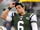 New York Jets quarterback Mark Sanchez on November 22, 2012
