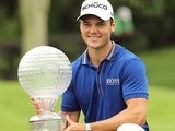 Martin Kaymer with the Nedbank Golf Challenge trophy on December 2, 2012