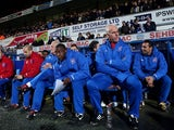 Mick McCarthy and Terry Connor in the dugout on November 27, 2012
