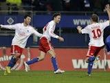 Milan Badelj scores Hamburg's third on November 27, 2012