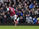 Modibo Maiga scores against West Ham on December 1, 2012