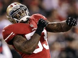San Francisco 49ers' NaVorro Bowman having a laugh on November 19, 2012