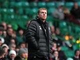 Celtic manager Neil Lennon on the touchline on December 1, 2012