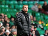 Celtic manager Neil Lennon on the touchline on December 1, 2012