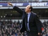 Rafa Benitez instructs his Chelsea boys on December 1, 2012
