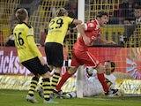 Dusseldorf's Stefan Reisinger scores on November 27, 2012